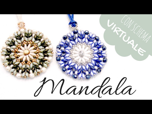 Come fare un Ciondolo Mandala con Superduo, Bar y Miyuki