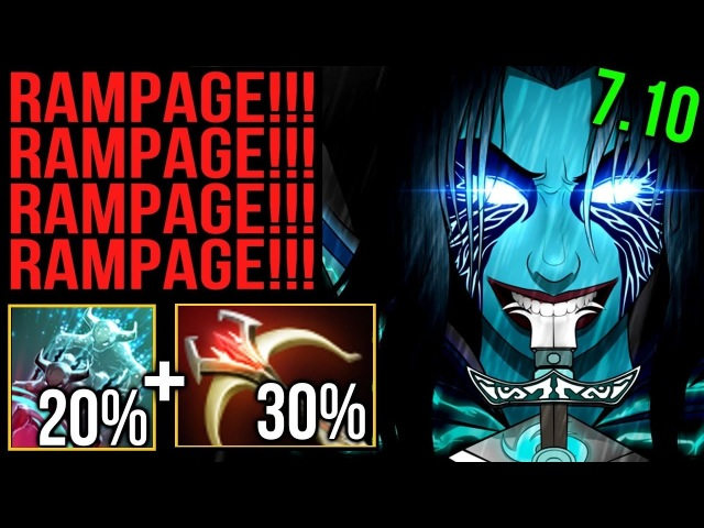 Rampage x 4 Phantom Assassin! Nonstop Critical Daedalus Build by Wagamama Dota 2 7.10