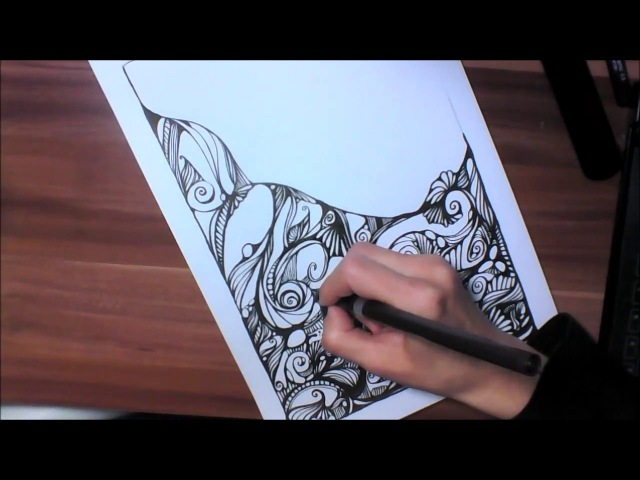 Kritzelei 31 Zentangle Inspired Art Speed Drawing