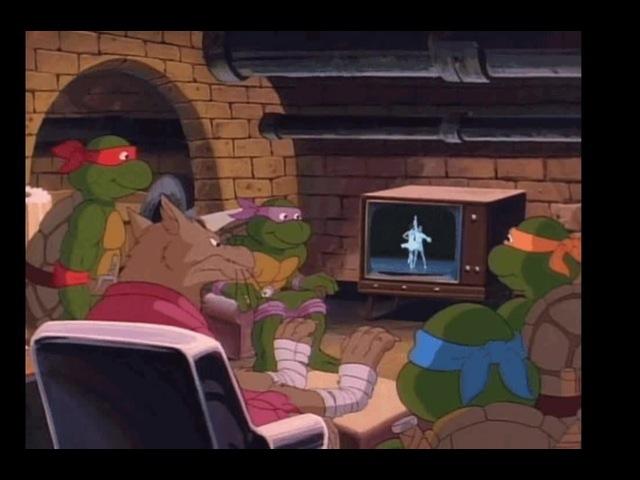 Микеланджело морская пехота Fuck off Shredder TMNT watching ballet