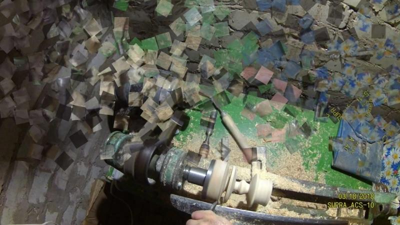 Подсвечник из дерева на токарном станке