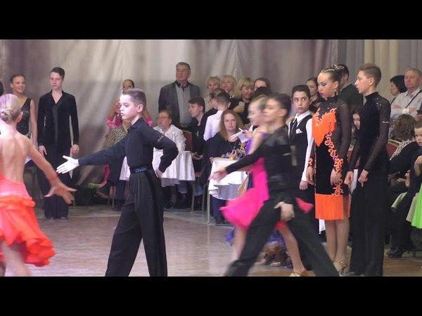 Награждение Юниоры 12 8 танцев Е класс