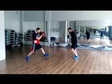 Тренировка по боксу, на лапах, в парах и на снаряде.