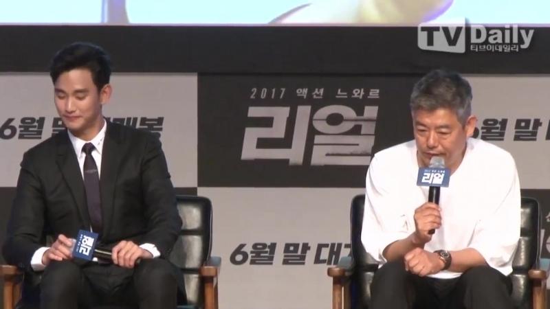 [TD영상] 김수현-성동일-최진리, 이 조합 리얼 ( kim soo hyun, choi jin li_movie real showcase )