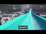 Виртуальная водяная горка прямо на улице Лондона от Topshop