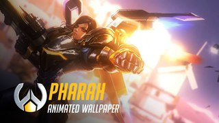 Pharah | Animated Wallpaper TimeLapse - Overwatch