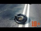 Жёсткое дтп на 300км байкера разорвало на части!