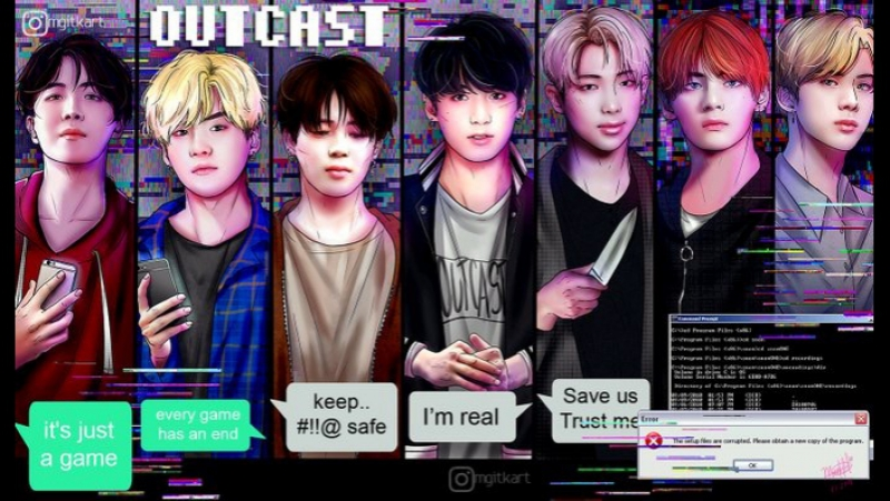 BTS || Hunt (outcast!au)