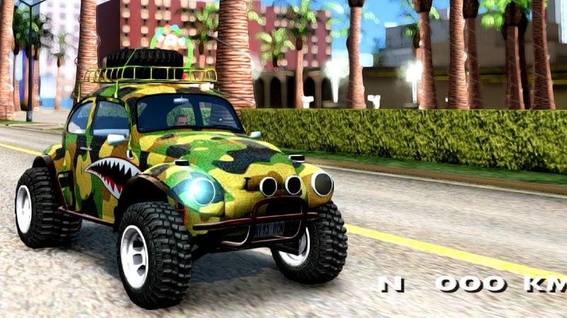 VW Baja Buggy Camo Shark Mouth GTA San Andreas