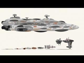 Реальные размеры кораблей из «Звездных войн»