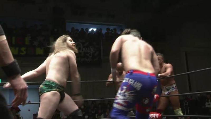 Yujiro Takahashi, Chase Owens, Hikuleo vs. Jay Lethal, Juice Robinson, David Finlay Jr. (NJPW - HONOR RISING JAPAN 2018 - Day 2)