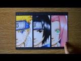 Рисунок Naruto, Sasuke and Sakura