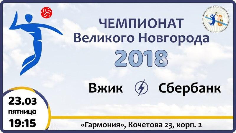 Вжик - Сбербанк, Чемпионат города по волейболу 2018 (мужчины)