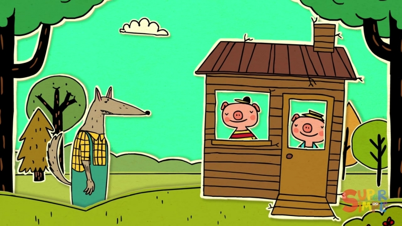 THE THREE LITTLE PIGS The Big Bad Wolf Fairy tale for kids 3 Little Pigs Story