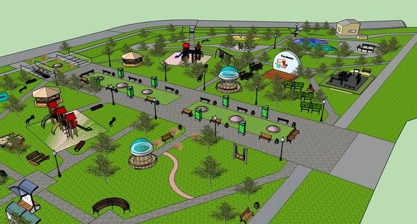 Дизайн-проект сквера в районе стадиона «Юбилейный»