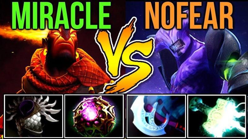 Miracle- vs Nofear Khezu - Amazing TeamPlay Dota2