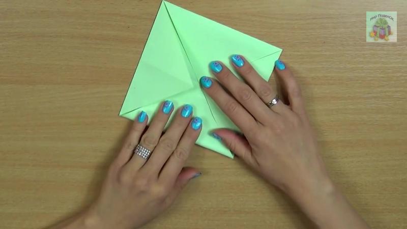 КАК СДЕЛАТЬ ИГРУШКУ ОРИГАМИ ДЛЯ ДЕТЕЙ СВОИМИ РУКАМИ. Toy origami for children. (DIY, Handmade).