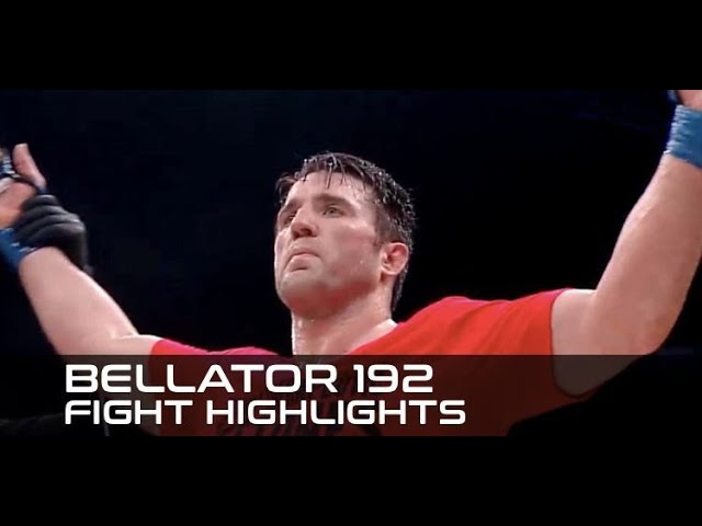 Bellator 192 Fight Highlights Chael Sonnen Takes Out Rampa Rory MacDonald Wins Belt
