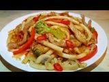 ВОК по-Цыгански с соусом Терияки. Макароны с мясом и овощами.Gipsy cuisine.