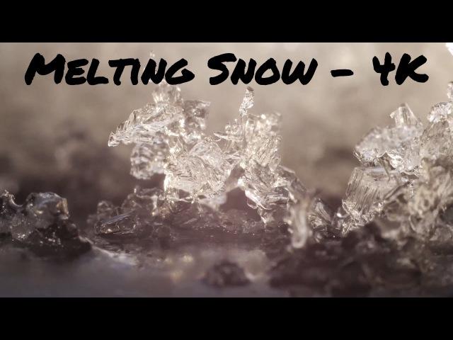 Melting Snow Closeup - 4k