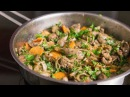 Chicken liver with onions and carrot