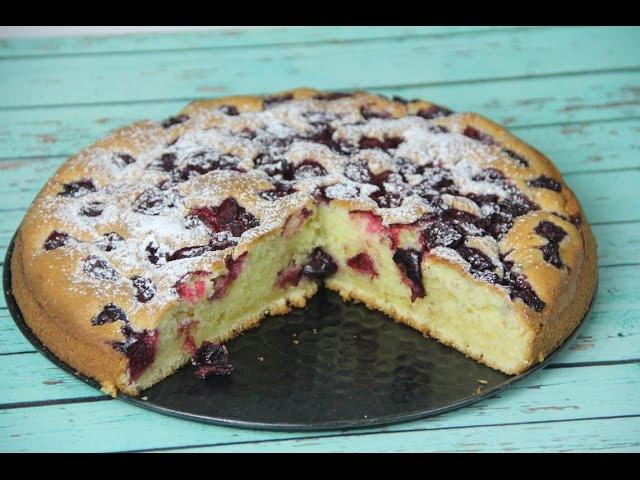 Как приготовить вишневый пирог очень легкий рецепт