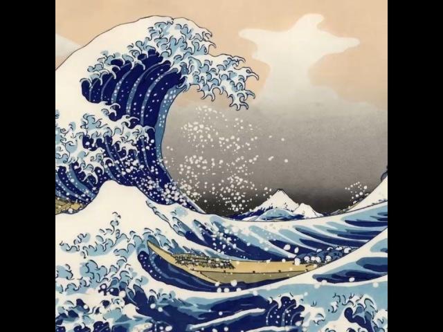 """Japanese Art on Instagram: """"katsushika Hokusai: The Great Wave off Kanagawa, 1832 Animation by Peter Van Valkenburgh: /..."""