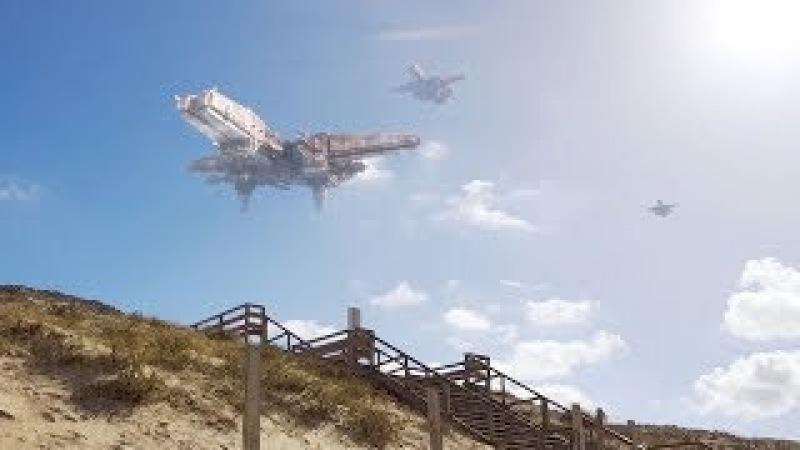 ARRIVAL of Huge UFOs over DENMARK ! Nov 2017