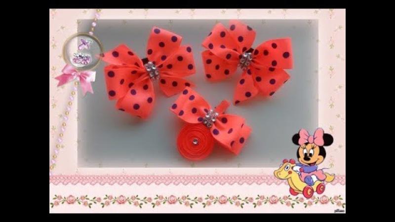Бантики за 10 минут из репсовой ленты МК Канзаши / Bows in 10 minutes of REP ribbons Kanzashi MK