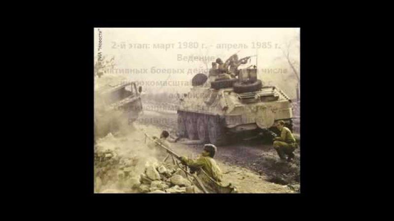 Презентация на тему: Афганская война 1979 1989