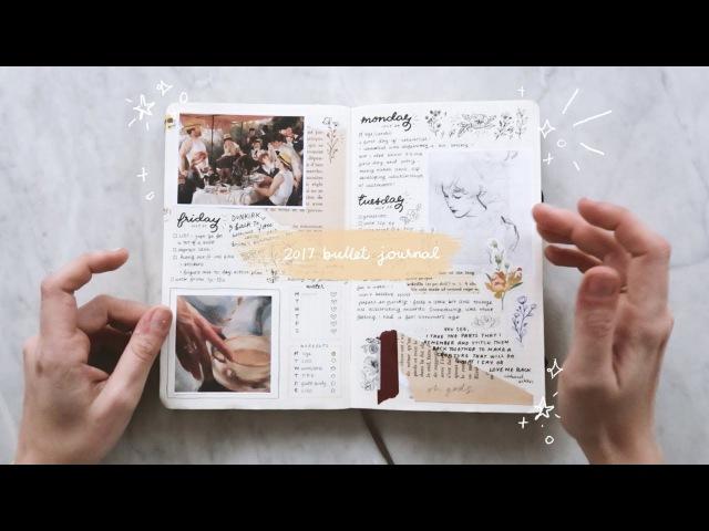 My 2017 bullet journal flip-through cheyenne barton