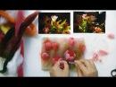 Картины из шерсти для начинающих рисуем тюльпаны мастер класс