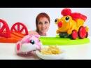 Трасса для паровозика Банни Игры с машинками для малышей