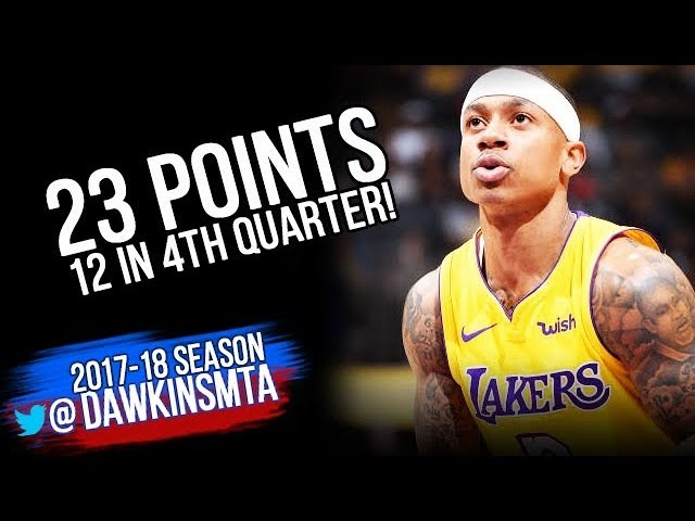 Isaiah Thomas Full Highlights 2018 3 13 LA Lakers vs Nuggets 23 Pts 12 in 4th FreeDawkins