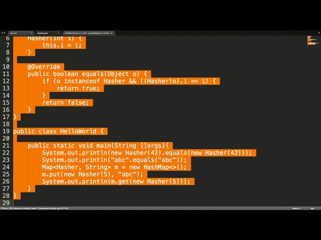 Семинары по Java на Физтехе. 01.11.2014. Контракты equals() и hashCode()