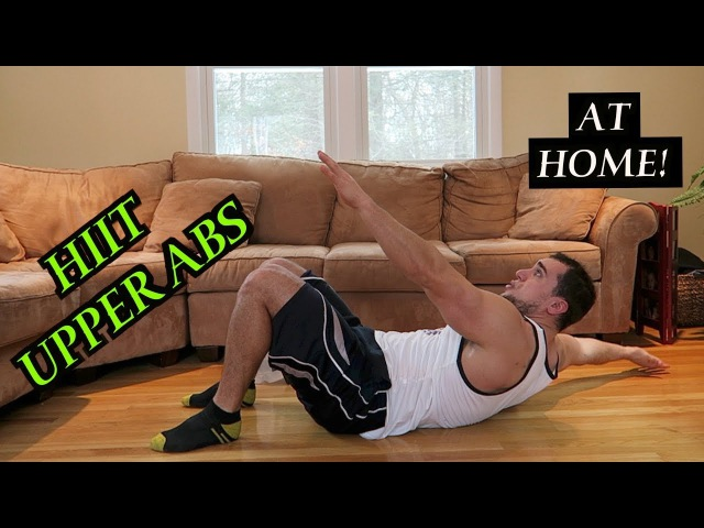 Intense Tabata At Home Upper Ab Workout (HIIT) 2