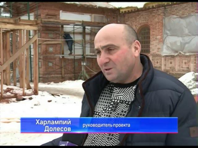 Реставраторы в Ярославле восстанавливают кресты и купола храма Николы Мокрого