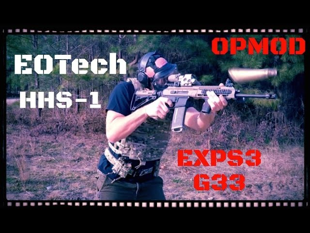 EOTech OPMOD EXPS3-0 HHS-I w/ G33 3X Magnifier Review (HD)