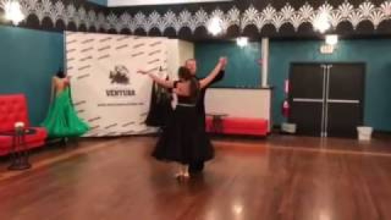 Viennese Waltz, American Smooth Silver Routine. Dance instructors Jānis and Alexandra