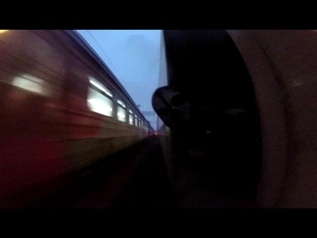 Зацепинг поезда Ласточка 4 Way до Владимира Trainsurfing in Russia High Speed 140 km h