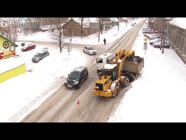 Котлас. Уборка снега