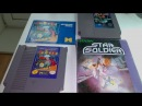 Распаковка геймплей 3-х игр Star soldier Burger time на NES Dendy