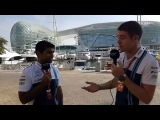 Williams TV Catch-up with Karun Chandhok and Paul Di Resta in the Yas Marina paddock