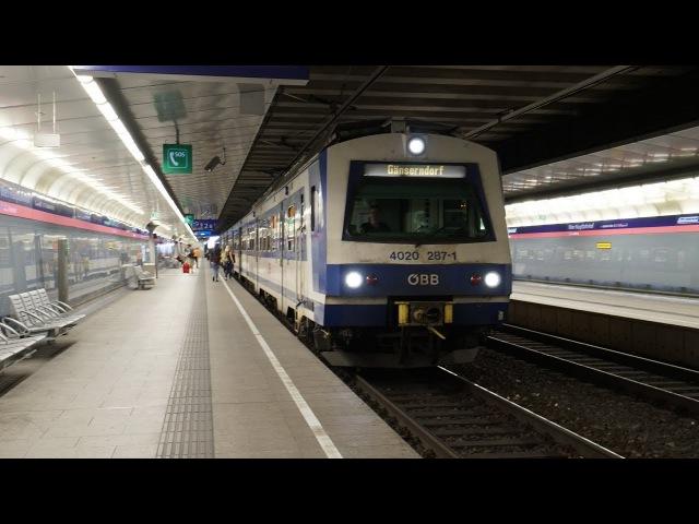 ÖBB 4020 287 4020 250 als S1 | Wien Hbf (Gleise 1 - 2) [4k]