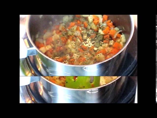 Суп с корнишонами и амарантом (веган)