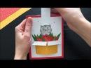 Интерактивная открытка с котиком, мастер-класс 😻🌷