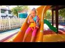 Полина с куклой Беби Бон играет на детской площадке Веселое видео для детей