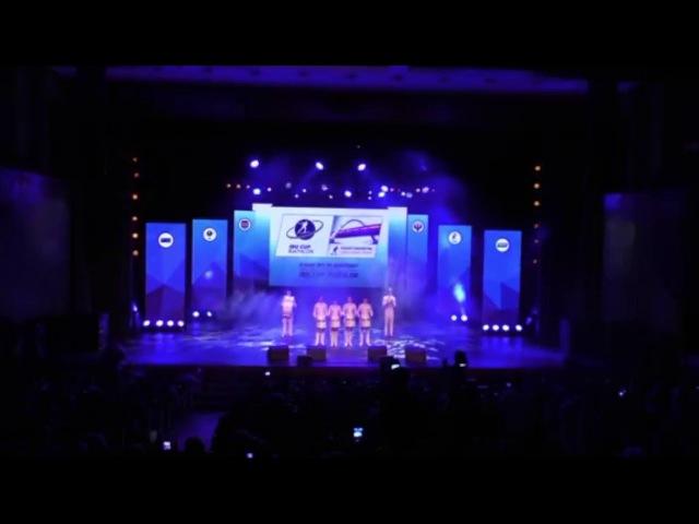 Дефиле барабанщиков Концертного оркестра Югры церемония открытия этапа кубка IBU