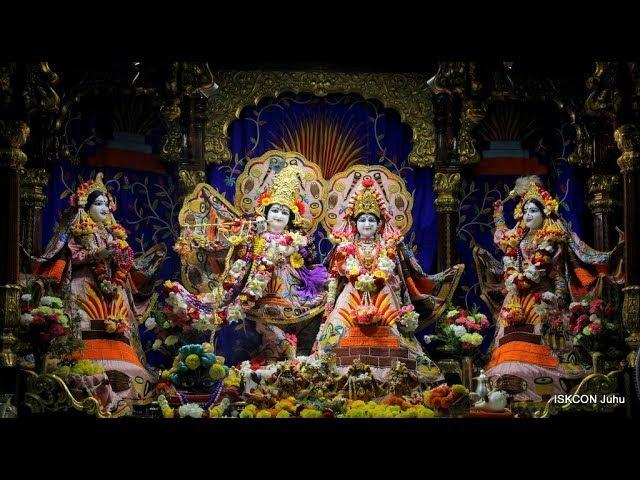 Sri Sri Radha Rasbihari Temple Sandhya Arati Darshan 19th March 2018 Live from ISKCON Juhu, Mumbai