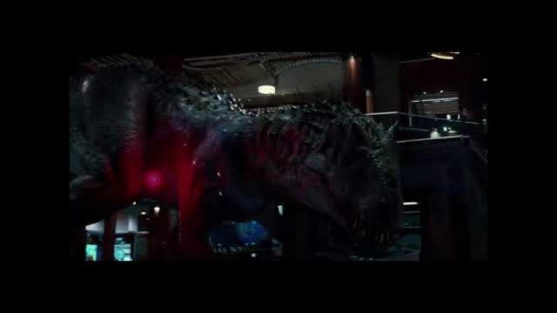 Jurassic World featuring Big Enough Tyrannosaurus Rex, Velociraptor and Indominus Rex